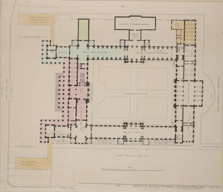 Plan of the main floor of the British Museum